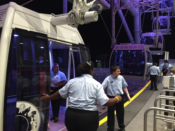 The Orlando Eye loading area