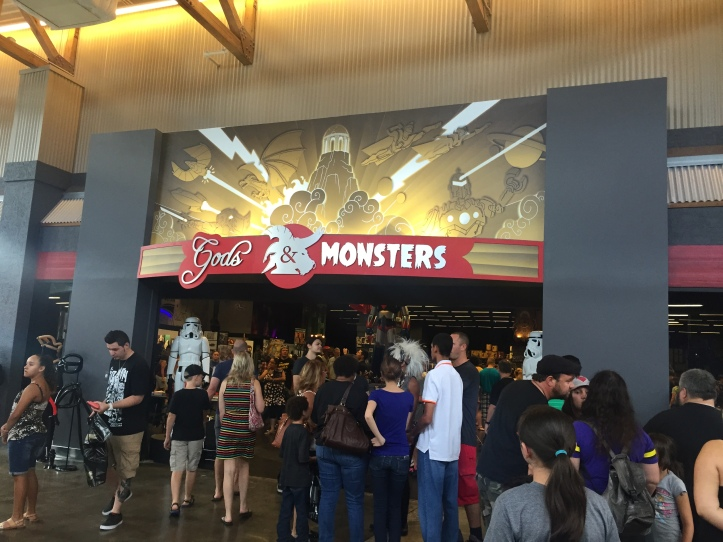 Gods and Monsters Grand Opening Entrance