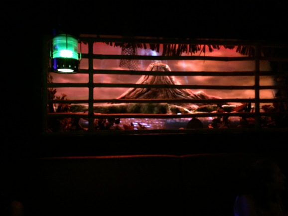 The island window at Trader Sam's Grog Grotto changes depending on the drink order. A volcano erupts or it starts pouring!