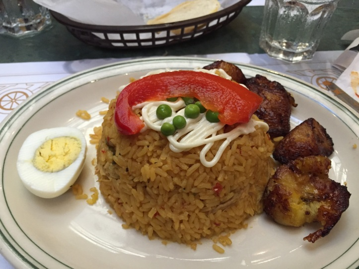 Imperial Rice and Sweet Plantains at La Carreta