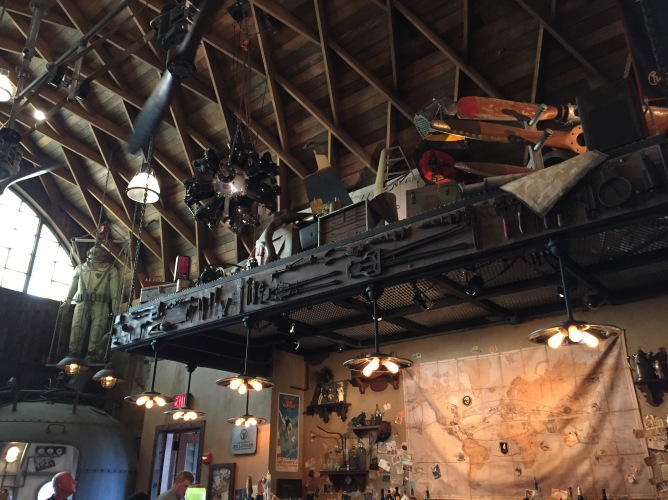 Jock Lindsey's Hangar Bar, an Indiana Jones themed bar at Disney World's Disney Springs