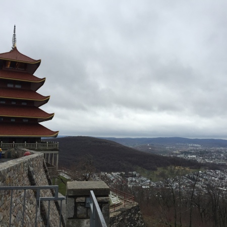 Visiting the Pagoda in Reading, PA