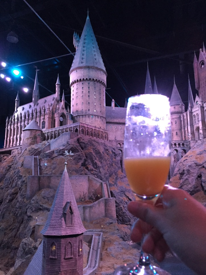 Warner Brothers Studio Tour mimosa at Hogwarts